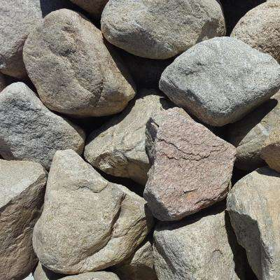 6 in. to 10 in. Sierra Coral Granite Landscaping Cobble (2500 lb. Contractor Pallet)