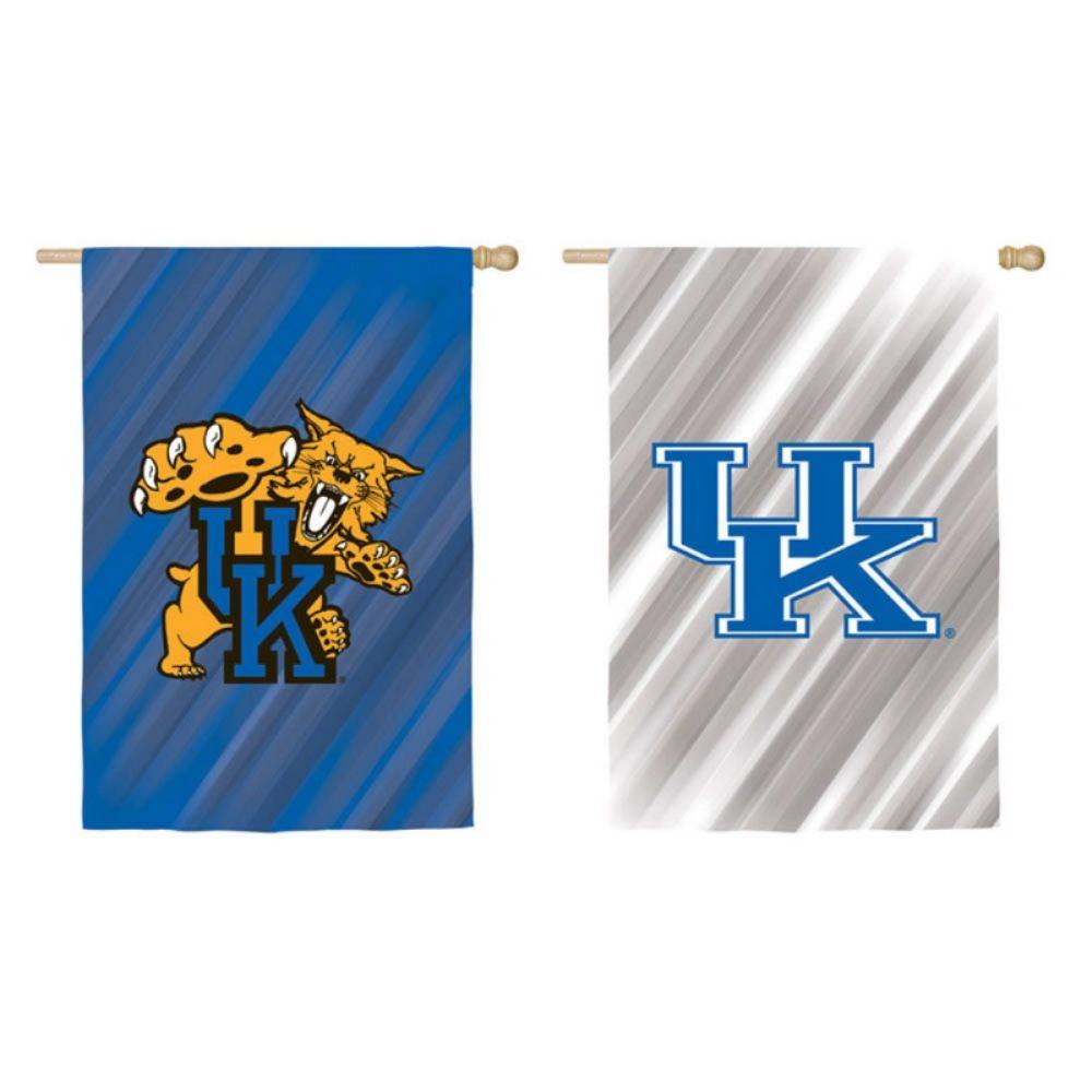 Fan Essentials NCAA 28 in. x 44 in. University of Kentucky 2-Sided Suede House Flag
