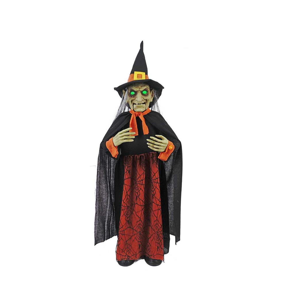 Home Depot Decorations: Home Accents Holiday 36 In. Animated Witch With LED Eyes