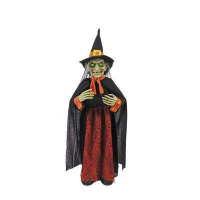 36 in. Animated Witch with LED Eyes