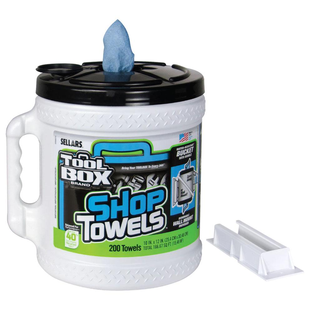 TOOLBOX Z400 200-Count Blue Shop Towel Big Grip Bucket (2