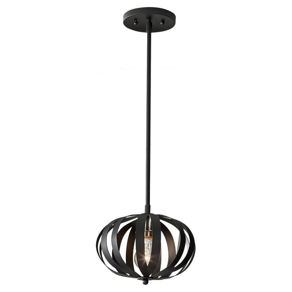 Woodstock 1-Light Textured Black Pendant