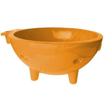 FireHotTub-OR 4-Persons 63 in. Acrylic Flatbottom Bathtub in Orange