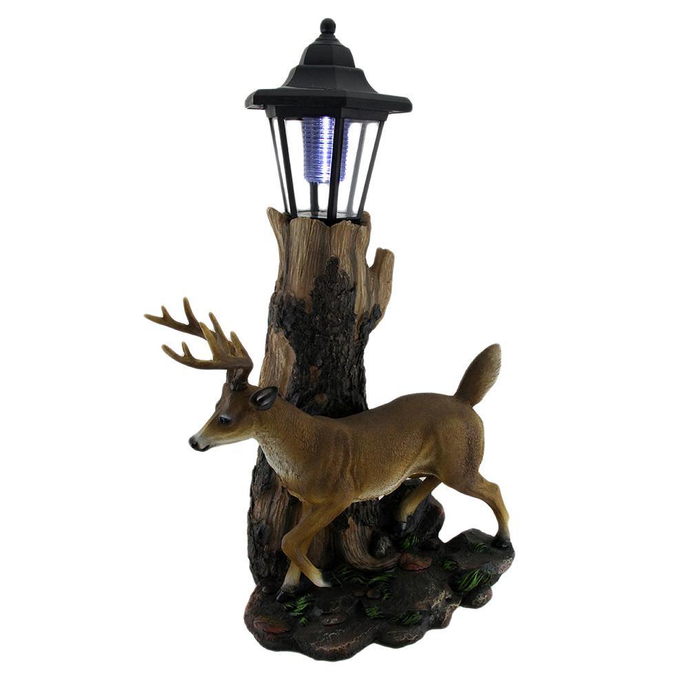 Whitetail Deer Sculptural Solar Light Garden Statue