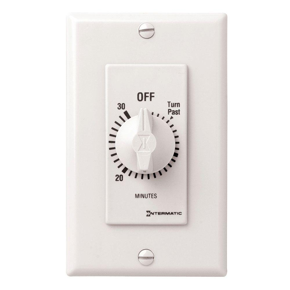 20 Amp 30-Minute Spring Wound In-Wall Timer, White