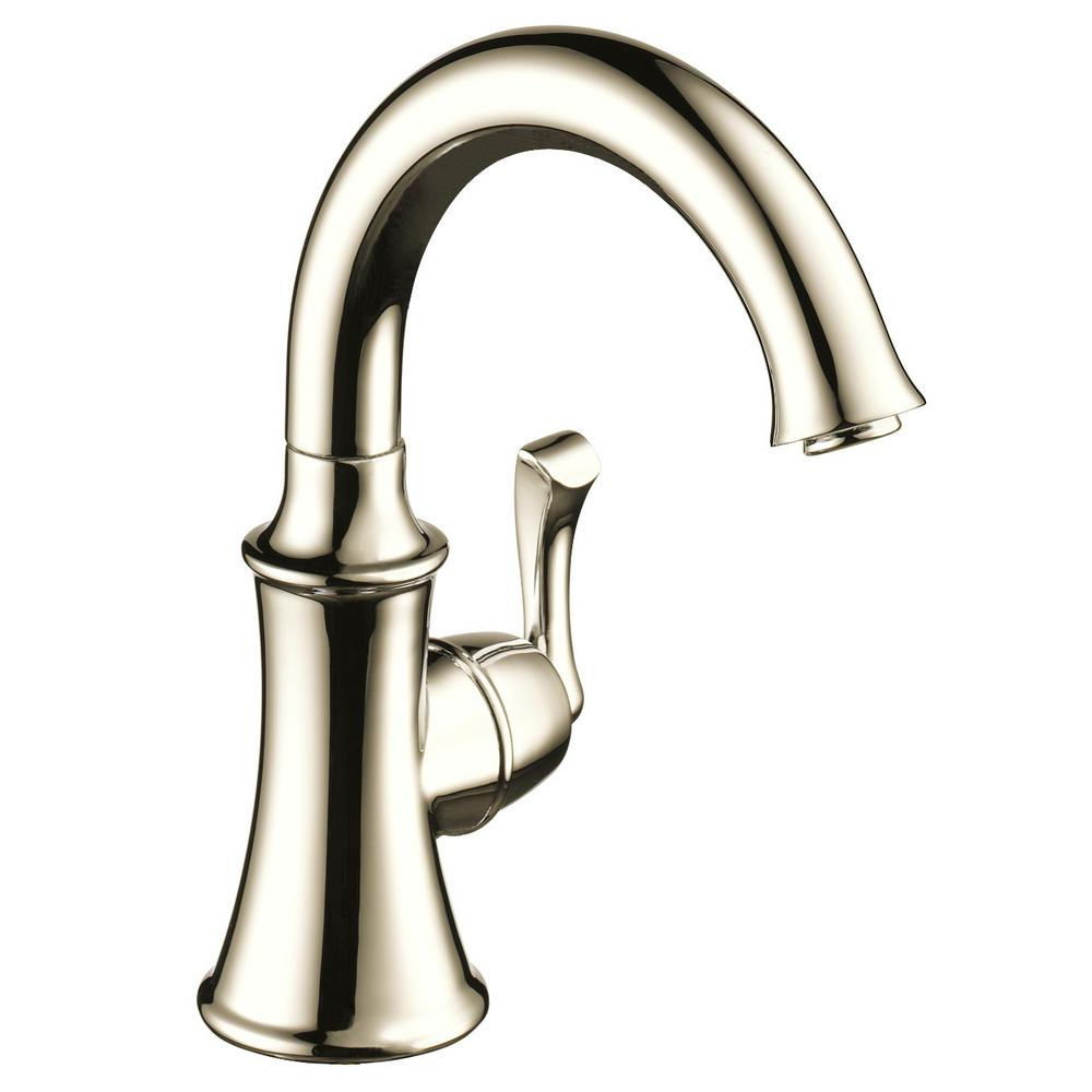 Traditional Single-Handle Water Dispenser Faucet in Polished Nickel