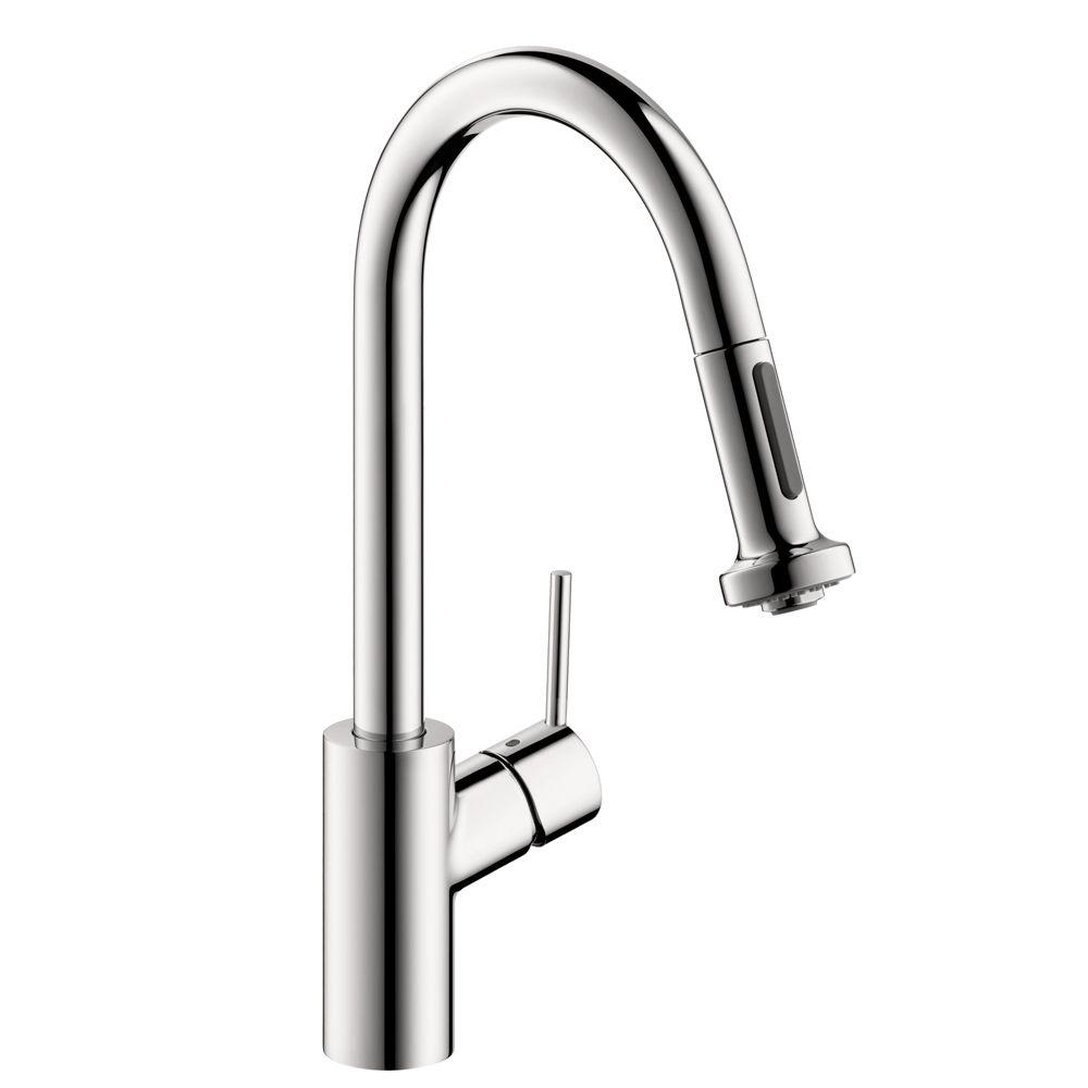 Talis S Single-Handle Pull-Down Sprayer Kitchen Faucet in Chrome
