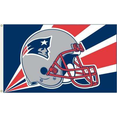 3 ft. x 5 ft. Polyester New England Patriots Flag