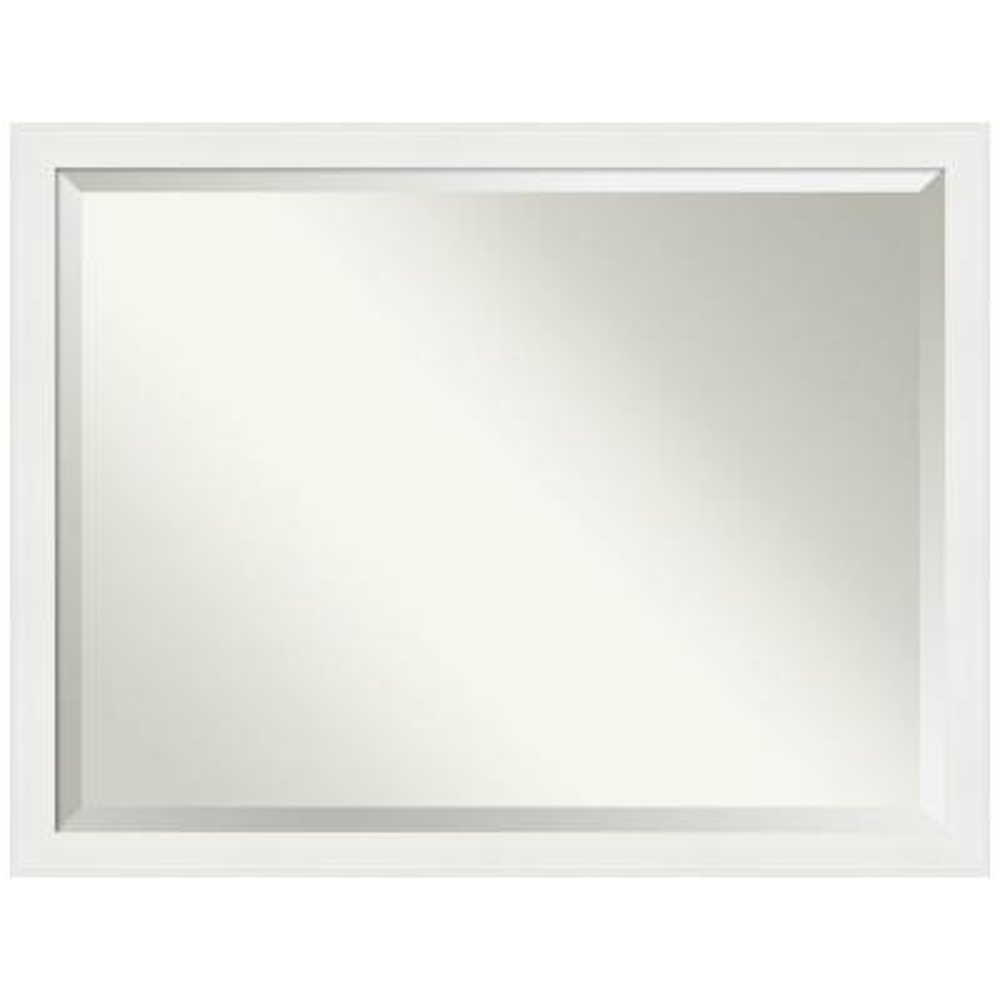 43.38 in. x 33.38 in. Vanity White Narrow Bathroom Vanity Mirror