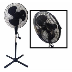 Click here to buy BoostWaves LavoHome Quiet 16 inch Black Standing Floor Fan 3-Speed Oscillating Adjustable Height by BoostWaves.