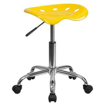 orange office furniture modern medical office vibrant orangeyellow tractor seat and chrome stool officedesk chair plastic yellow office chairs home