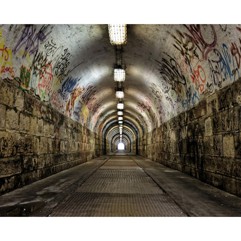 Brewster graffiti tunnel wall mural wr50554 the home depot for Brewster wall mural
