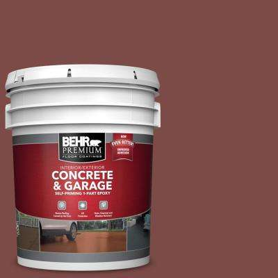 5 gal. #SC-118 Terra Cotta Self-Priming 1-Part Epoxy Satin Interior/Exterior Concrete and Garage Floor Paint