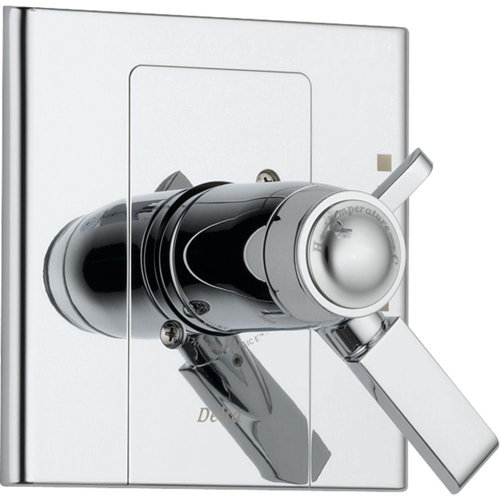 Delta Arzo TempAssure 17T Series 1-Handle Volume and Temperature Control Valve Trim Kit Only in Chrome (Valve Not Included)
