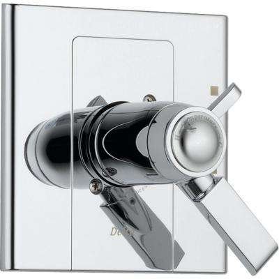 Arzo TempAssure 17T Series 1-Handle Volume and Temperature Control Valve Trim Kit Only in Chrome (Valve Not Included)