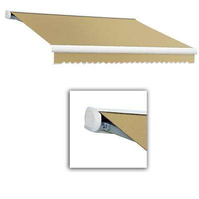 20 ft. Key West Full Cassette Left Motor Retractable Awning (120 in. Projection) Tan