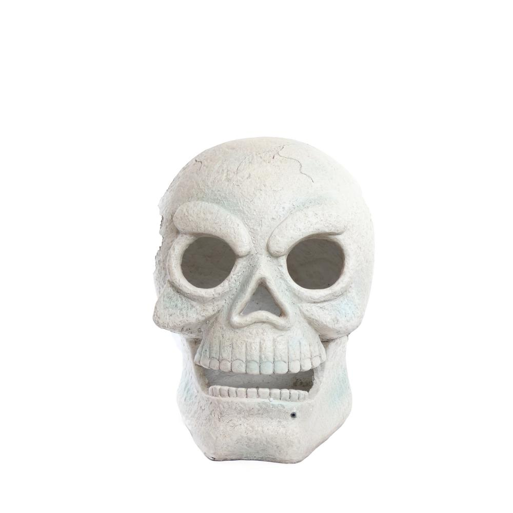 16 in. Skull with 2 Red LEDs and Motion Sensor- Battery