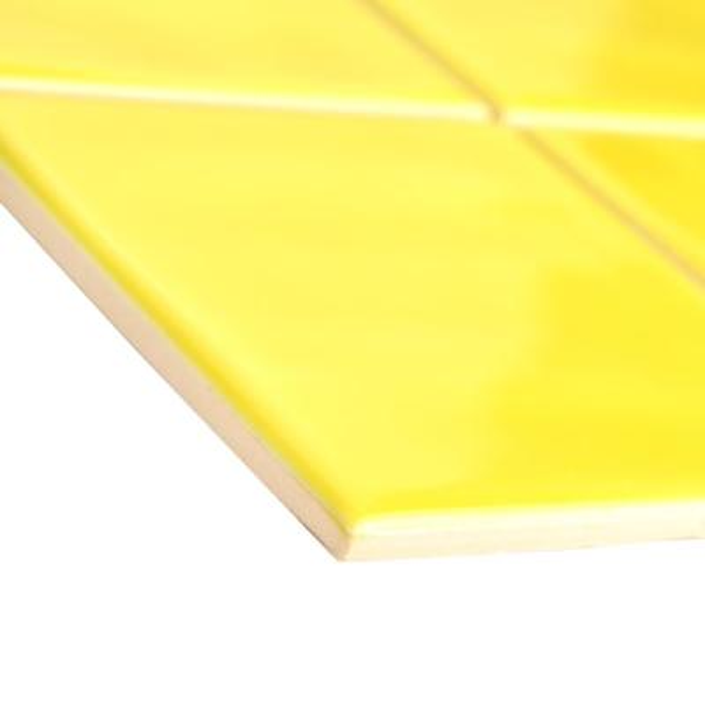 Twist Square Yellow Lemon 11-3/4 in. x 11-3/4 in. Ceramic Mosaic (9.79 sq. ft. /Case)