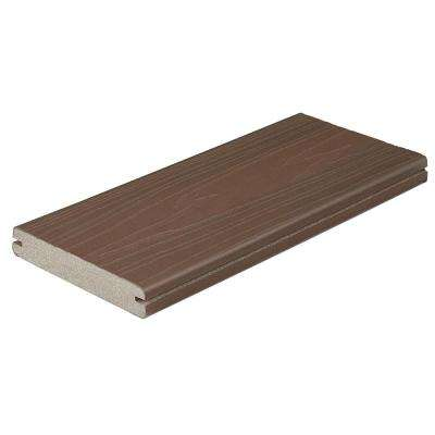 ProTect Advantage 1 in. x 5-1/4 in. x 1 ft. Chestnut Grooved Edge Capped Composite Decking Board Sample