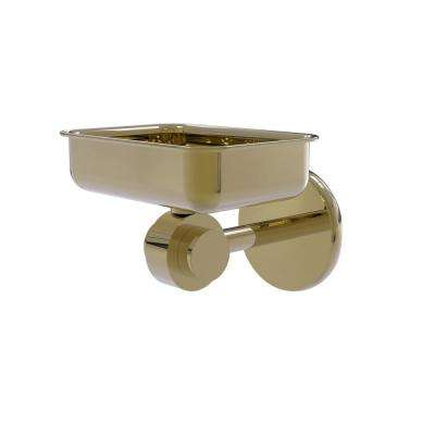 Satellite Orbit 2-Collection Wall Mounted Soap Dish in Unlacquered Brass