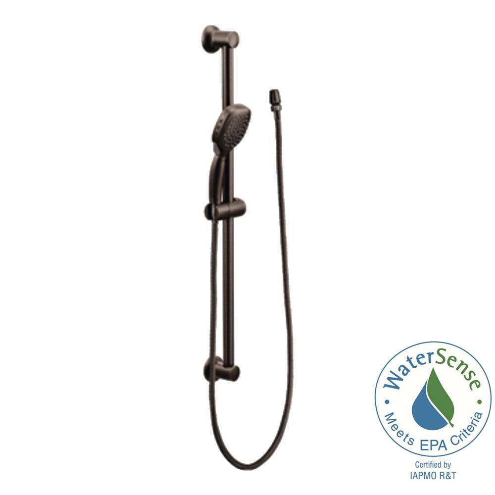 MOEN Twist 4-Spray Handheld Handshower with Slide Bar in Oil Rubbed Bronze