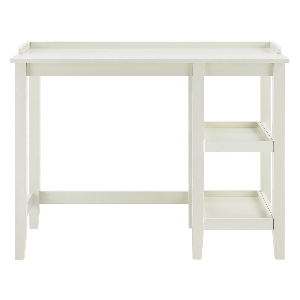 Ameriwood Farhurst White Single Pedestal Desk HD68512