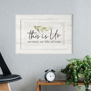 This Is Us White Wood Wall Decor