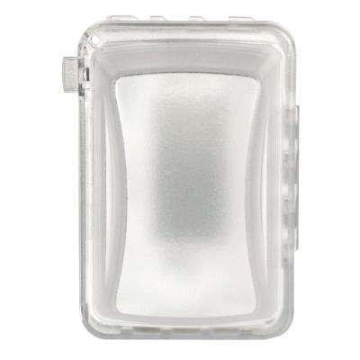 1-Gang 16-in-1 2-3/4 in. Deep Horizontal/Vertical Weatherproof In-Use Cover Clear with White Base