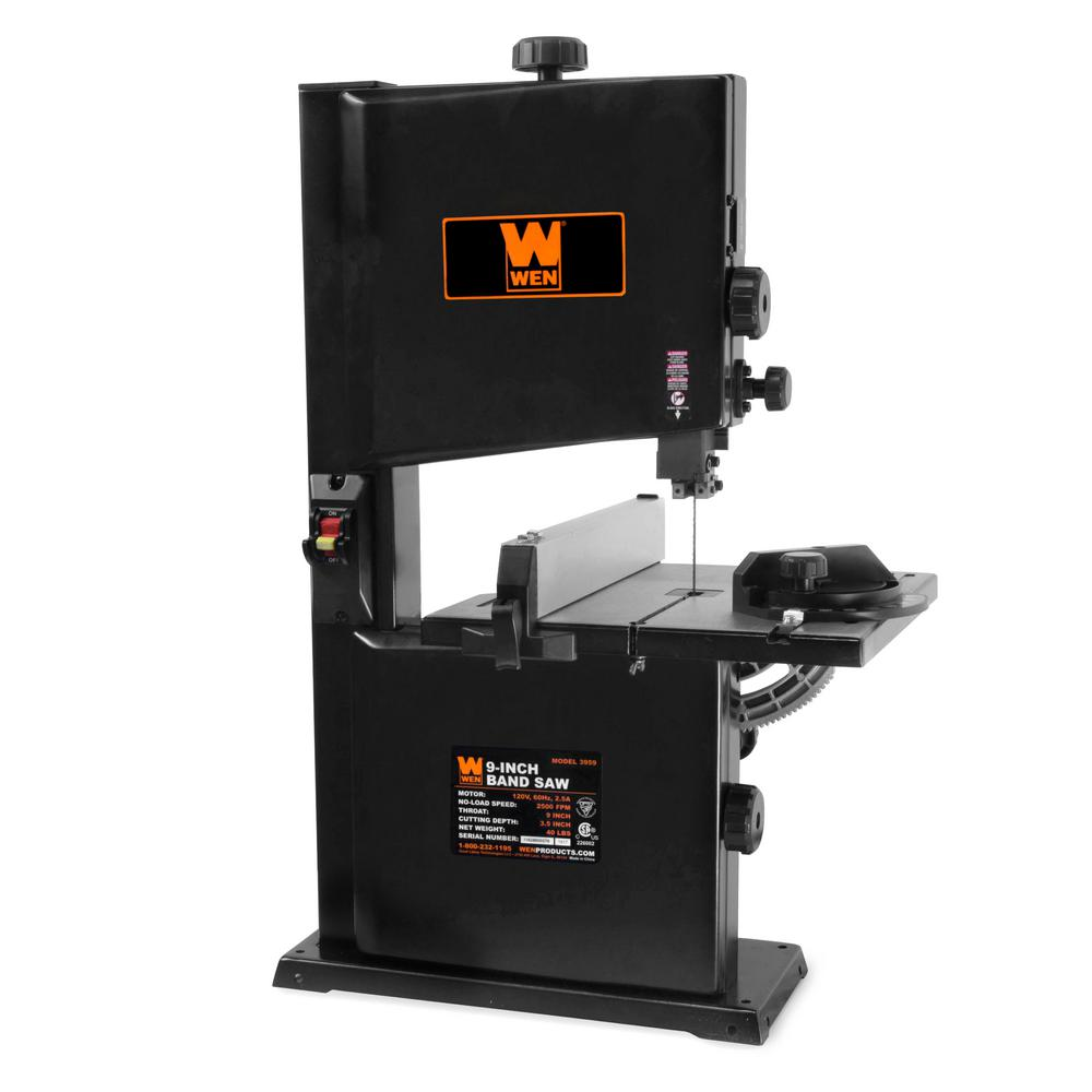 Wen 2 5 Amp 9 In Benchtop Band Saw 3959 The Home Depot