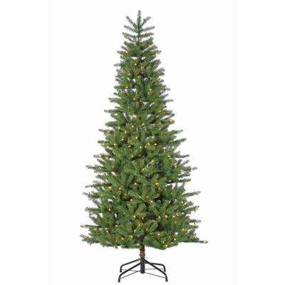 7.5 ft. Pre-Lit Natural Oakland Spruce Artificial Christmas Tree with Dual Color Changing LED Lights