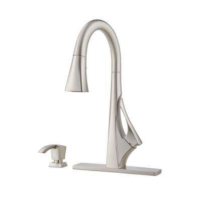 Venturi Single-Handle Pull-Down Sprayer Kitchen Faucet with Spot Defense in Stainless Steel