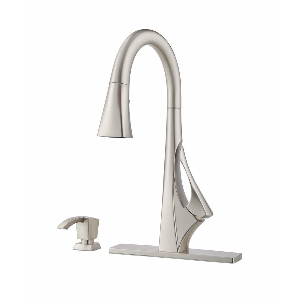 Pfister Venturi Single Handle Pull Down Sprayer Kitchen Faucet in