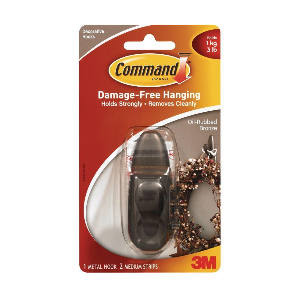 Command 3 lb. Forever Classic Medium Oil-Rubbed Bronze Metal Hook