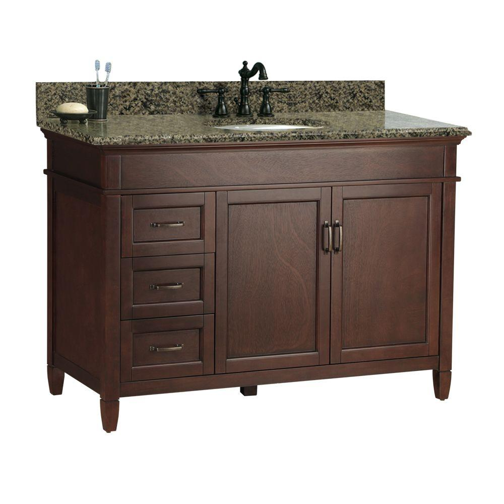 Wood Vanities With Tops Bathroom Vanities The Home Depot - Wrought iron bathroom vanity stand