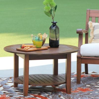 Wales Round Wood Outdoor Coffee Table