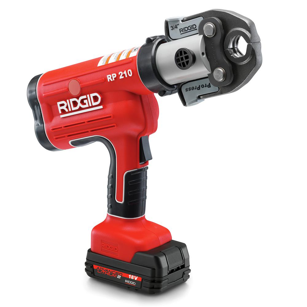 RIDGID 18-Volt Lithium-Ion RP 210-B Cordless Compact Press Tool with ProPress Jaws