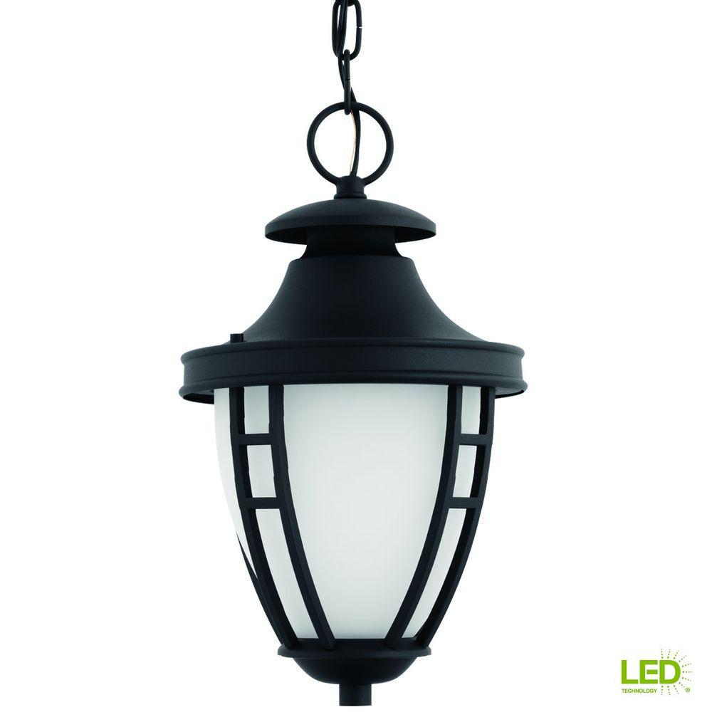 led hanging lights outdoor progress lighting fairview collection 1light outdoor textured black led hanging lantern