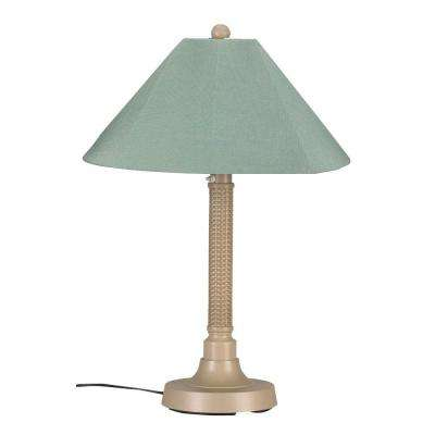 Bahama Weave 34 in. Mojavi Outdoor Table Lamp with Spa Shade