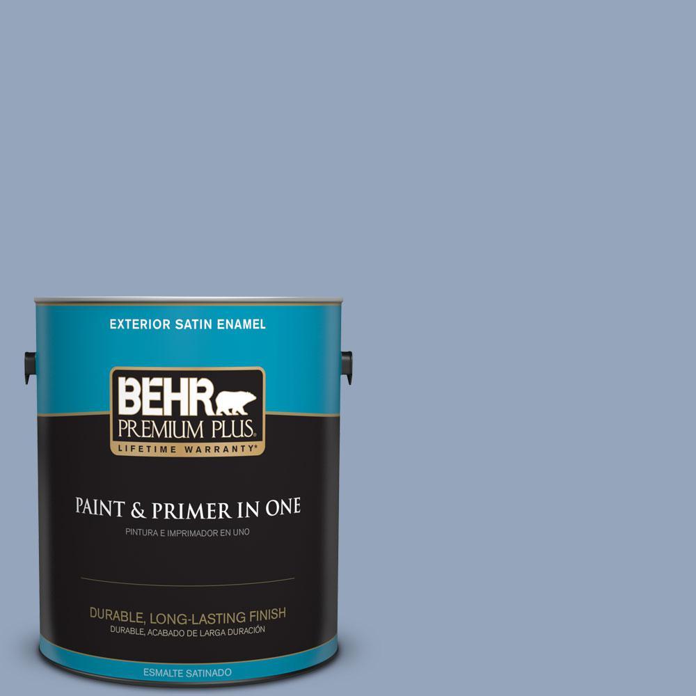 BEHR Premium Plus 1-gal. #580F-4 River Valley Satin Enamel Exterior Paint