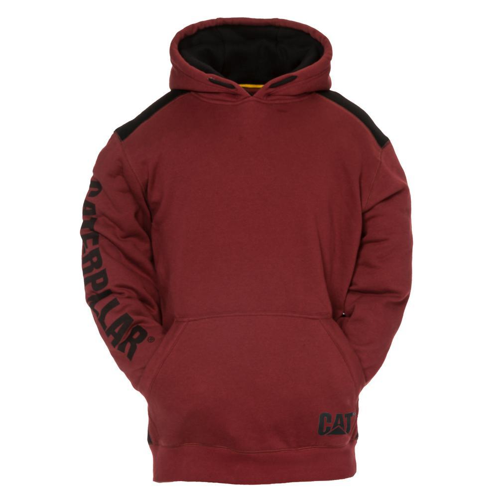 Logo Panel Men's Size 3X-Large Brick Cotton/Polyester Hooded Sweatshirt