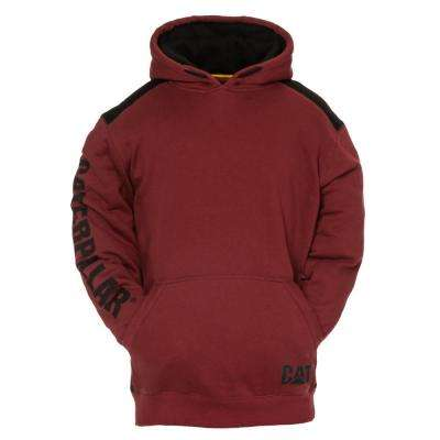 Logo Panel Men's Size 3X-Large Brick Cotton/Polyester Hooded Sweatshirt