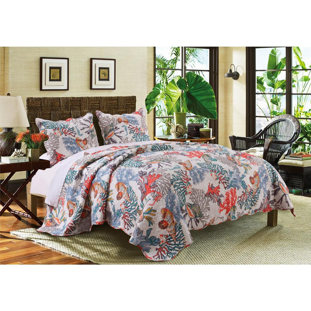 Greenland Trading Atlantis 3-Piece Multi King Quilt Set