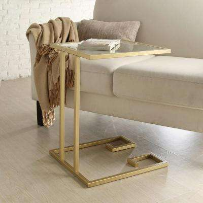 Royce Gold Powder Coated End Table