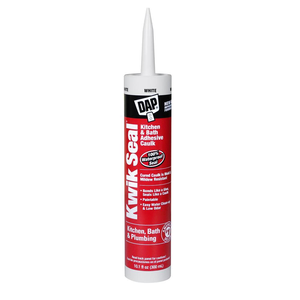 Dap 10 1 Oz White Kwik Seal Tub And Tile Adhesive Caulk 18032 The Home Depot