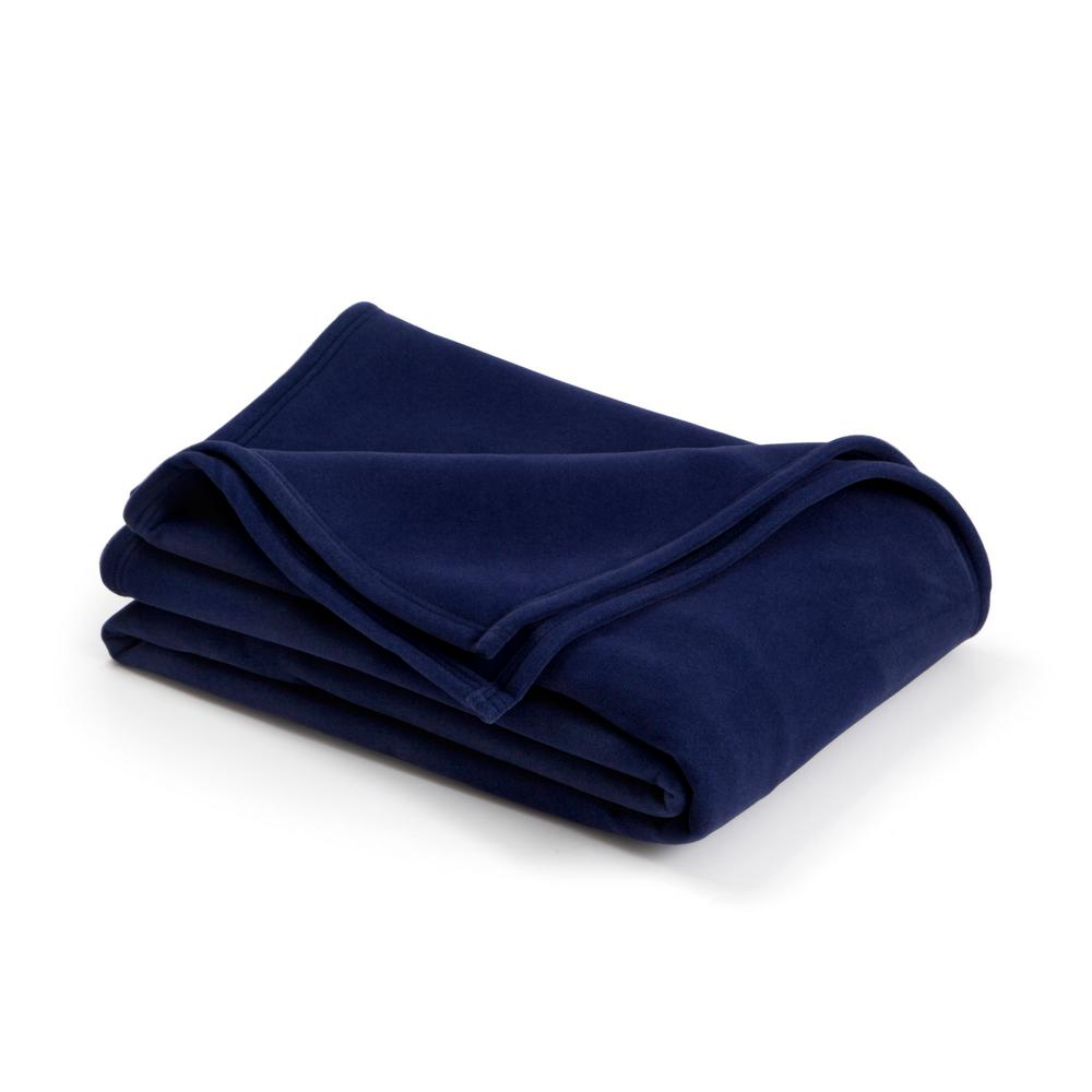 6053c13f25 Vellux Original Navy Nylon Full Queen Blanket-027399017716 - The Home Depot