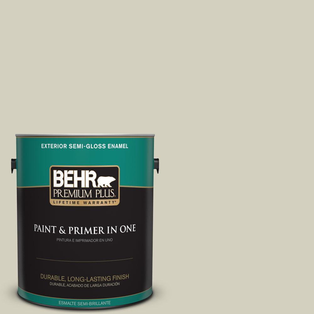 1-gal. #PPF-14 Traditional Tan Semi-Gloss Enamel Exterior Paint