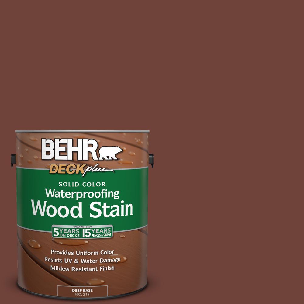 1 gal. #N160-7 Brown Velvet Solid Color Waterproofing Wood Stain