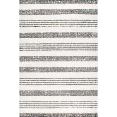 Striped Kelsi Grey 9 ft. 10 in. x 14 ft. Area Rug