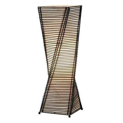 Stix 24-1/2 in. Black Cane Table Lantern