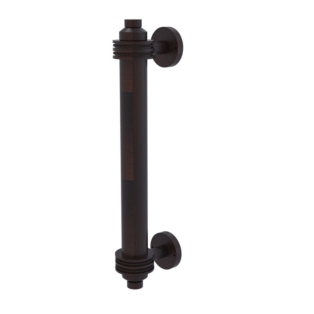 8 in. Door Pull with Dotted Accents in Venetian Bronze